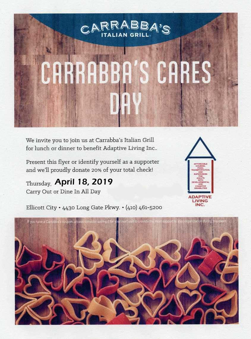 Carrabbas Cares Day April 18 2019